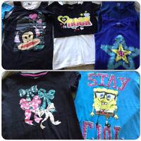 6 Girls Shirts size 7/8