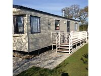 Static caravan by fishing lakes in Lincolnshire