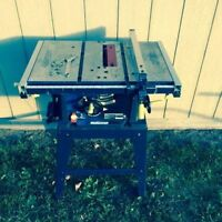 "Mastercraft 10"" Deluxe Table Saw"