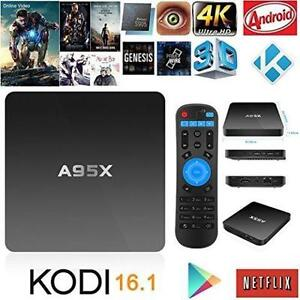 Free Delivery and Installation - A95X Android TV Box Amlogic S905 Quad Core