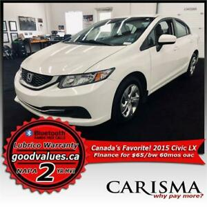 '15 Civic Auto~A/C~Backup Cam~Heated Seats~MVI & WTTY