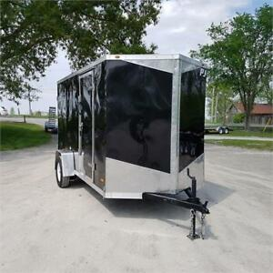 2018 RC Trailers 6' X 12' Enclosed V Nose w/ Barn Doors