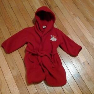 red housecoat - size 18-24 months - gender neutral