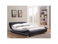 Brand new 4ft6 double designer bed frame with 10 inch balmoral mattress. Free delivery