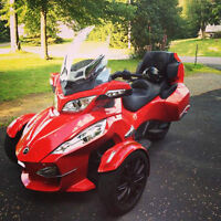 can-am spyder rt-s se5 2013 rouge