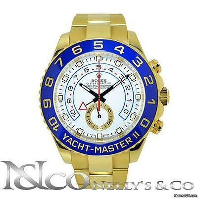 Rolex Yacht Master II - 18K Yellow Ceramic Bezel Men's Watch Ref 116688