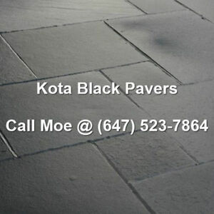 Kota Black Flagstone Pavers Kota Black Square Cut Paving Stones