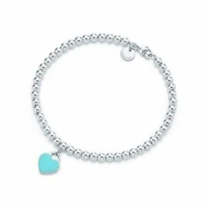 Tiffany and co. Mini beads heart bracelet - size 6.5 inches