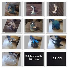 bundle of dolphin ornaments