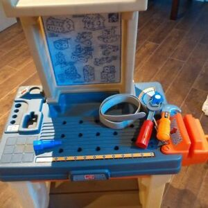 Kids work bench and tool Box