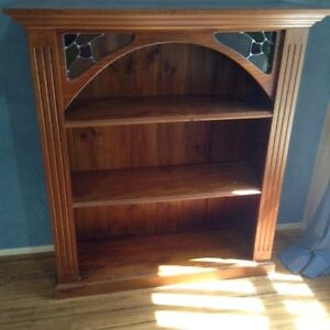 Bookcase with stained glass Glenmore Park Penrith Area Preview