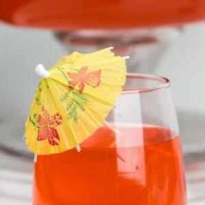 4 Drink Umbrella / Parasol Pick with Assorted Colors - 144/Box *RESTAURANT EQUIPMENT PARTS SMALLWARES HOODS AND MORE*
