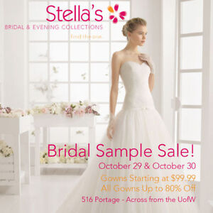 STELLA'S ANNUAL WEDDING DRESS SALE!