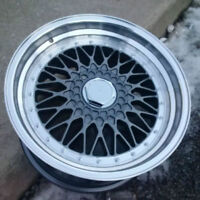 """NEW 17"""" RS style tims (5x112/5x120) – Gunmetal with polished lip"""