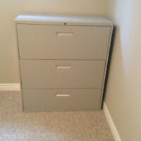 3-Drawer Lateral Filing Cabinet, fits letter and legal files