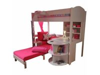 Stompa Casa 4 High Sleeper Bed in Pink