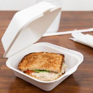 Biodegradable, Compostable Take-Out Container - 500 / Case .*RESTAURANT EQUIPMENT PARTS SMALLWARES HOODS AND MORE*