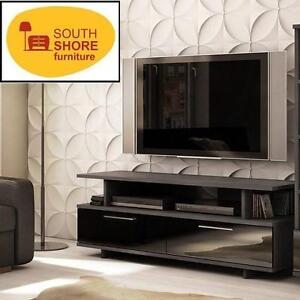 "NEW SOUTH SHORE REFLEKT 60"" TV STAND - 116459203 - GRAY OAK MODERN FINISH - TV STAND"