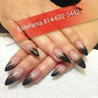 SPECIAL POSE D'ONGLES 25$RESINE,ACRYLIC, SHELLAC,GEL,PEDICURE