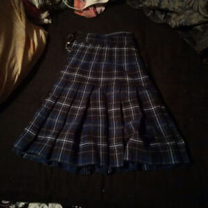 Plaid Kilt with Built in shorts