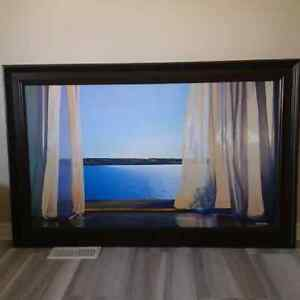 Extra large canvas picture with frame