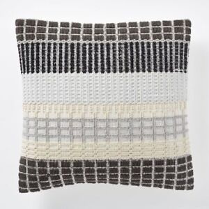 Margo Selby Woven Block Pillow Cover - Slate West Elm Brand New