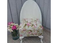 Shabby Chic Vintage Lloyd Loom Style Chair