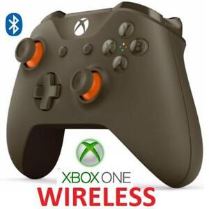 RFB XBOX ONE WIRELESS CONTROLLER 1708 208284790 BLUETOOTH GREEN/ORANGE VIDEO GAMES REFURBISHED