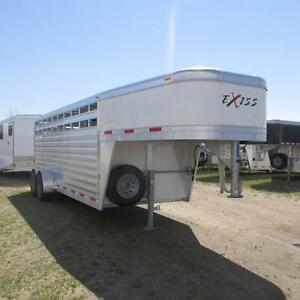 2018 EXISS 20 Ft Stock Gooseneck  Trailer w. Divider and Spare