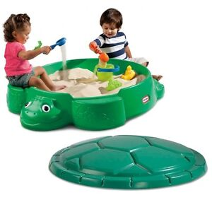 Green turtle sand box without cover