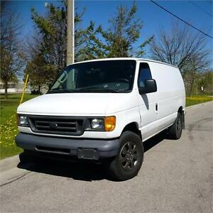 2006 Ford Econoline Cargo Van. Diesel, Shelving/Hitch.Certified.
