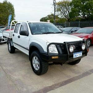 2007 Holden Rodeo RA MY07 LX Crew Cab White 5 Speed Manual Cab Chassis