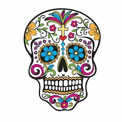 2 Inch Day of the Dead Skull Cupcake Image Topper by Art of Eric