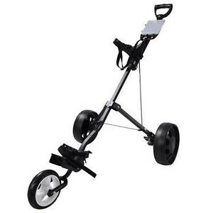 3 Wheels Golf Club Golf Cart Trolley Foldable Push/Pull Cart - FREE SHIPPING
