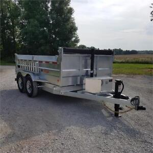 2019 K Trail 80 X 12 Galvanized Dump Trailer w/ Ramps