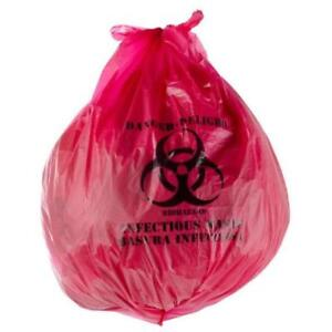 Red Isolation Infectious Waste Bag / Biohazard Bag 200/CASE *RESTAURANT EQUIPMENT PARTS SMALLWARES HOODS AND MORE*