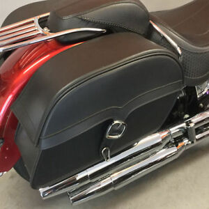 Viking Deluxe Universal SS Slant Large Motorcycle Saddlebags
