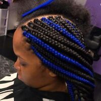 coiffures africaines, tresses