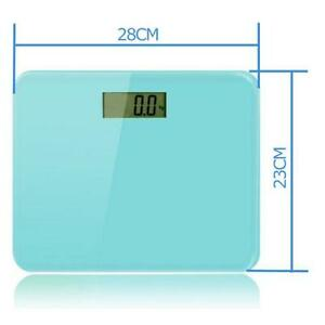 Digital LCD Glass Bathroom Body Weight Scale 400lb 180kg