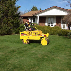 Lawn rolling, aerating, and dethatching services. 289-697-3285