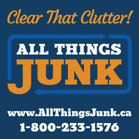Junk Removal -- All Things Junk -- We Do All The Work!!