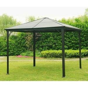 NEW* SUNJOY BIRMINGHAM GAZEBO - 118693398 - HARD TOP 10' x 10'