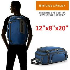 NEW BRIGGS  RILEY CONVERTIBLE BAG BD250X 246655245 BRX EXCHANGE MEDIUM DUFFLE CONVERTS TO BACKPACK LUGGAGE TRAVEL