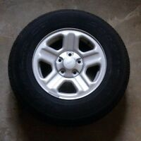 5x127 Rims with 225/75/16 All Season Tires