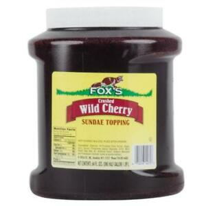 Cherry Ice Cream Topping - 6 - 1/2 Gallon Containers / Case *RESTAURANT EQUIPMENT PARTS SMALLWARES HOODS AND MORE*