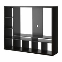 TV storage unit (black) - Meuble télé (Noir)
