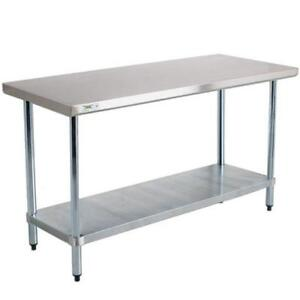 Stainless steel tables - lots of different sizes - brand new