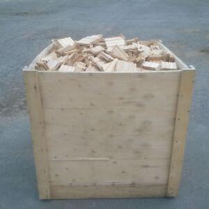 Bois de chauffage, retailles de bois franc
