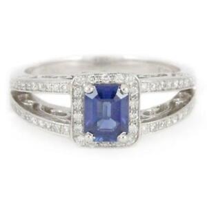 Lady's Platinum Custom Sapphire & Diamond Ring(GS appraised)1267