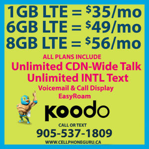 ⭐ Koodo $56 8GB LTE + UNLTD CDN-Wide Talk&Text + $50 Credit ⭐